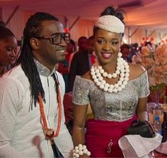 African Sweetheart: Paul & Anita: Stunning Bride Anita Isama Makes Her Grand Entrance African Fashion Dresses, African Attire, African Wear, African Dress, African Lace, African Traditional Wedding, African Traditional Dresses, Traditional Wedding Dresses, Traditional Weddings
