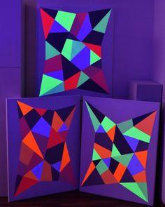 "Astrid Stoeppel on Instagram: ""Series Blacklight 2018🌌See available works at Saatchi Art. Follow link in bio🔝 #saatchiart #artcollector #usa #internationalartist…"""