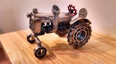 Stainless tractor metal art by Jesse Rannings