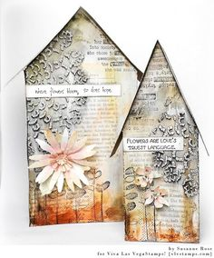 Susanne Rose Designs: Altered Houses with Viva Las VegaStamps!
