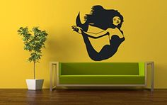 Wall Vinyl Sticker Decals Mural Room Design Pattern Mermaid Fish Octopus Tentacles Ocean Sea bo670