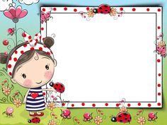 Boarder Designs, Doodle Frames, School Frame, Kids Background, Cute Cartoon Girl, Cartoon Sketches, Borders And Frames, Cute Illustration, Preschool Crafts