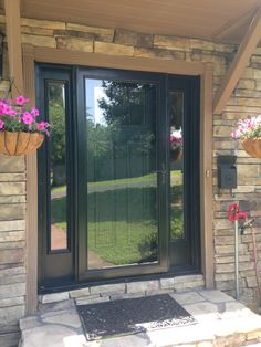 Storm Door With Black Front Door Exterior Doors, Entry Doors, Garage Doors,  Door