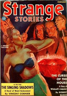 """Strange Stories, Feb., 1939 Feb includes """"The Invaders"""" by Henry Kuttner [as by Keith Hammond] and """"The Frog"""" by Henry Kuttner."""