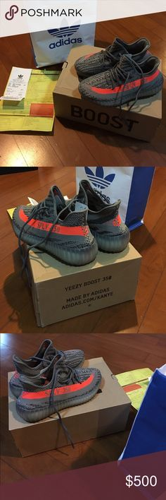 Adidas Yeezy Boost 350 V2 Brand new with receipt and box bought in Adidas Originals Store. Adidas Yeezy Boost 350 V2 Beluga Adidas Shoes Sneakers