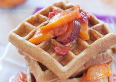 Macadamia Waffles with Fruit Syrup Against All Grain | Against All Grain - Delectable paleo recipes to eat & feel great