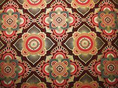 Hoffman Istanbul Garnet Middle Eastern Design Fabric Yard Emma Schonenberg. $10.95, via Etsy.