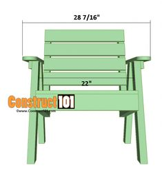 Lawn chair plans and matching side table, includes illustrations, measurements, shopping list, and cutting list. Adirondack Chair Plans, Outdoor Furniture Plans, Lawn Furniture, Furniture Design, Funky Furniture, Plywood Furniture, Chair Design, Wooden Lawn Chairs, Indoor Hammock Chair