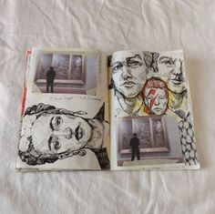 Wonder what the story is of the combination of pictures and sketches...
