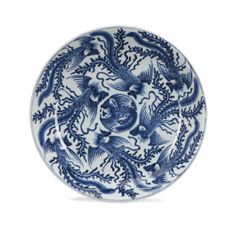 A CHINESE BLUE AND WHITE 'PHOENIX' CHARGER, KANGXI PERIOD (1662-1722)