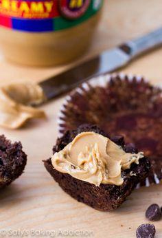 Skinny Chocolate Banana Fudge Muffins by Sallys Baking Addiction