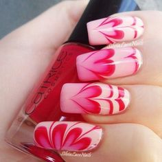 Valentine's day water marble