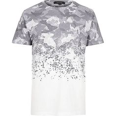 White faded camo T-shirt - print t-shirts - t-shirts / vests - men