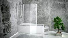 Kabino- wanna Integra to połączenie, które zadowoli zarówno amatorów prysznica, jak i długich, relaksujących kąpieli!