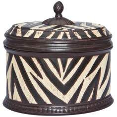 Botswana Ceramic Animal Print Lidded Box