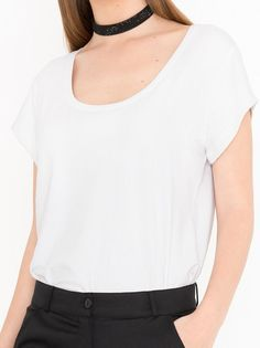 T-Shirt Ozlem: Off white - Tops - Miss Green