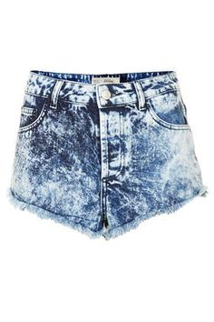 MOTO Brooke Acid Denim Hotpants - Denim Shorts - Shorts - Clothing