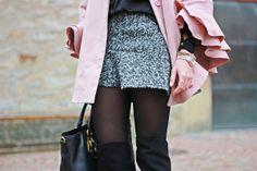 pink, grey, black