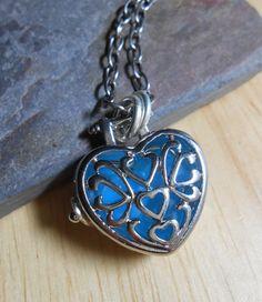 Sea Glass Jewelry Beach Glass Locket Necklace by SeaFindDesigns