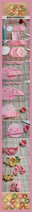 Fabric Flowers sewing