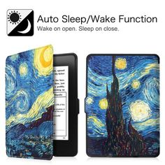 All-New Amazon Kindle Paperwhite SmartShell Case - Fintie The Thinnest and Lightest Leather Cover, Starry Night