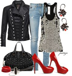 """""""Hell on Heels"""" by rockreborn ❤ liked on Polyvore"""