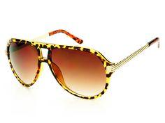 Celebrity Retro Style Gold Metal Arms Aviator Sunglasses Tortoise A992