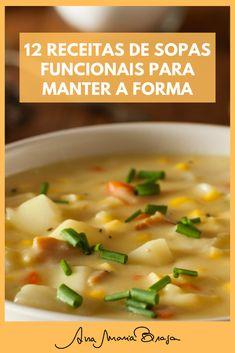 Sopas Light, Keto Recipes, Healthy Recipes, Salty Foods, Light Recipes, Kitchen Recipes, Soups And Stews, Italian Recipes, Food Videos