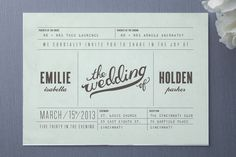 This says showboat all over it    Mr. Laurence Wedding Invitations by Moglea at Minted.com