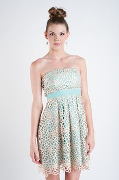 Mint To Be Seafoam Mint Party Dress by Minuet