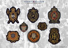 Tommy Hilfiger - Traditional Heritage Badges by Kristiaan Passchier, via Behance
