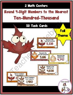 Round 4-Digit Numbers to Nearest Ten, Hundred, or Thousand from Teachers Take Out on TeachersNotebook.com -  (14 pages)  - 2 Centers to Practice Rounding 4 Digit Numbers to the Nearest Ten, Hundred, or Thousand