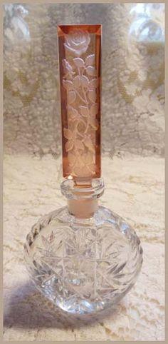 Czech perfume bottle. #antique #vintage #scent