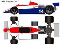 1981 Ensign N180b formula 1 Formulas, Box Art, F1, Racing, Trapper Keeper, Cars, Culture, Art, Free Paper Models