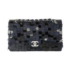 Chanel - square paillettes clutch