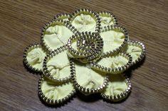 Keepsake Crafts | How To Make Zipper Flowers | http://keepsakecrafts.net/blog