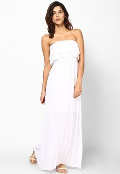 White Off Shoulder Dress at $72.20 (24% OFF)