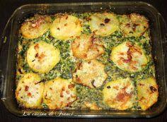 Sformato di ricotta,spinaci,prosciutto e patate (senza glutine2)