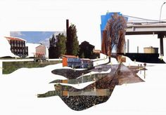 Enric Miralles Collage Unit h: cultural geometries: collage concept & ideas Landscape Architecture Drawing, Architecture Visualization, Urban Architecture, Nature Collage, Collage Art, Collages, Plastic In The Sea, Photoshop Rendering, Urban Nature