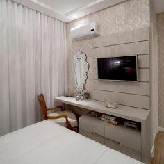 31 Ideas for bedroom desk storage cabinets Tv In Bedroom, Master Room, Home Decor Bedroom, Living Room Decor, Bedrooms, Location, Interior Design Living Room, House Design, Decoration