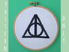 Harry Potter Cross Stitch Pattern -- The Deathly Hallows