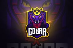 , Cobra - Mascot & Esport Logo- Suitable for your personal or squad logo, All elements on this template are editable with adobe illustrator! Vector Game, Game Logo Design, E Sport, Black Cartoon, Snake Design, Cobra, Logo Templates, Design Templates, Business Illustration