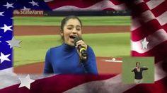 14 Years Old Alanis Sophia singing USA National Anthem