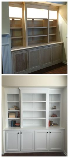 Simple Elegant Amazing diy built in buffet shelving from plywood and pine DIy Furniture plans build In 2018 - Style Of ikea built in cabinets Review