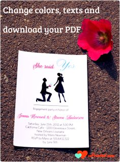 Printable Engagement Invitations Cards coprinted.com  #engagement #invites #cards