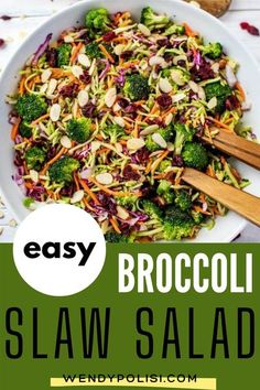 This easy Broccoli Slaw Salad is easily my favorite slaw recipe that I�ve ever made. It is so packed with flavor. Make this one for your next family dinner, and you will have a glow of satisfaction that comes from serving something that everyone loves.