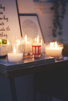 DIY duftlys og lys i glas