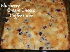 Foodie Sisters: Blueberry Cream Cheese Coffeecake.  Just made this and WOW it is fantastic...the cream cheese makes it a top shelf recipe and one you could serve to VIP's.  This recipe just went to the top of my list for overnight guest breakfasts...and for me when I need a pick me up.  This really is past deliciousness...it is positively sinfully delicious.