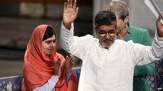Malala and Kailash Satyarthi receive joint Nobel award Nobel Peace Prize laureates Kailash Satyarthi (right) and Malala Yousafzai  at the the Nobel Peace Prize award ceremony at the City Hall in Oslo, 10 December 2014