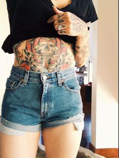 tattoo. I can appreciate the boldness of this, the size & placement definitely makes a statement.
